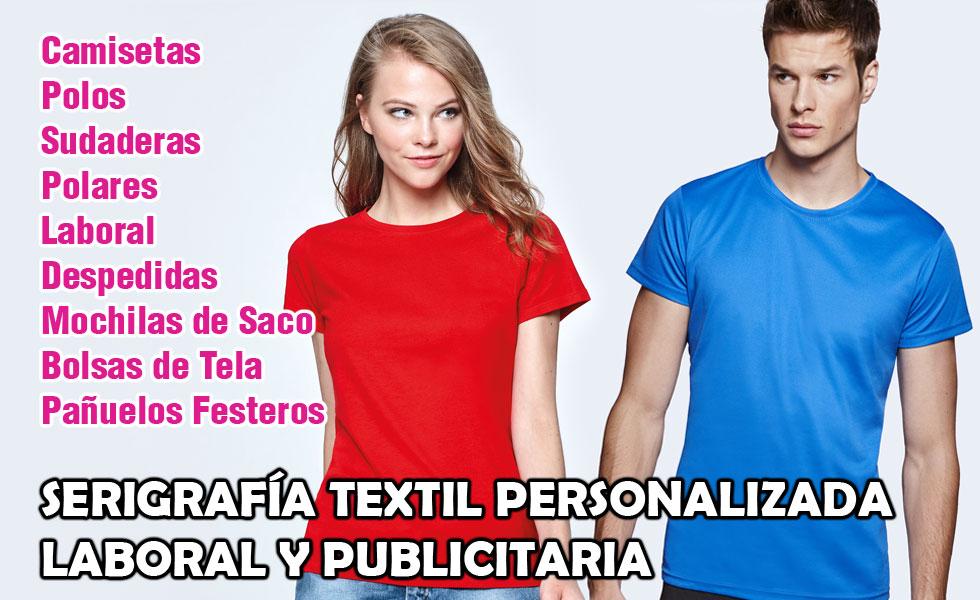 45fe066fd Textilgraf serigrafía textil personalizada laboral y publicitaria en  Valencia. Camisetas